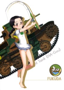 Rating: Safe Score: 29 Tags: fukuda_(girls_und_panzer) girls_und_panzer megane skirt_lift swimsuits User: drop