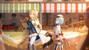 Rating: Questionable Score: 15 Tags: armor kaku-san-sei_million_arthur maya_g pantyhose thighhighs uniform User: Dreista