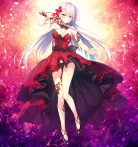 Rating: Questionable Score: 84 Tags: detexted dress gothic_lolita lolita_fashion lyseria_christaria pantsu seiken_gakuin_no_maken_tsukai sword tattoo toosaka_asagi torn_clothes User: zyll