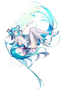 Rating: Safe Score: 43 Tags: cleavage hatsune_miku heels skirt_lift thighhighs vocaloid yyb User: yanis