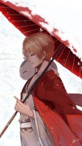Rating: Safe Score: 16 Tags: japanese_clothes male natsume_takashi natsume_yuujinchou neko nyanko squidsmith umbrella User: Noodoll