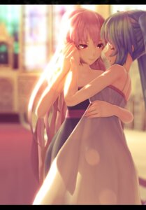 Rating: Safe Score: 52 Tags: dress hatsune_miku megurine_luka nadezhd vocaloid User: mattiasc02