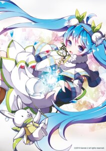Rating: Safe Score: 47 Tags: hatsune_miku headphones kanola_u vocaloid yuki_miku User: mash