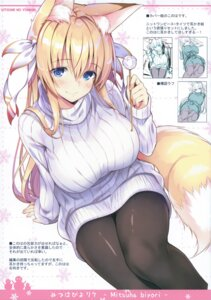 Rating: Questionable Score: 35 Tags: animal_ears dress kitsune nozomi_tsubame pantyhose sweater tail User: kiyoe