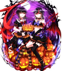 Rating: Safe Score: 21 Tags: dress halloween heels horns houjuu_nue kijin_seija sheya thighhighs touhou weapon wings User: Mr_GT
