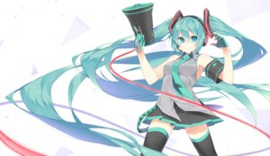 Rating: Safe Score: 20 Tags: fhang hatsune_miku headphones koi_wa_sensou_(vocaloid) thighhighs vocaloid User: RyuZU