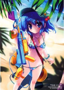 Rating: Safe Score: 49 Tags: bikini happy_birthday kawashiro_nitori maruchan stick_poster swimsuits touhou User: fireattack