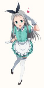 Rating: Safe Score: 19 Tags: blend_s kanzaki_hideri maid shira-nyoro thighhighs trap waitress User: saemonnokami