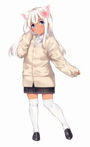 Rating: Safe Score: 29 Tags: animal_ears go-1 kantai_collection ro-500 seifuku sweater thighhighs User: Mr_GT