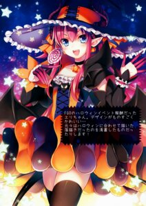 Rating: Safe Score: 9 Tags: dress elizabeth_bathory fate/grand_order halloween horns pointy_ears tail thighhighs toosaka_asagi witch User: kiyoe