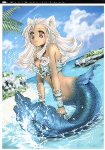 Rating: Safe Score: 20 Tags: animal_ears aquarian_age cleavage kawaku mermaid User: midzki