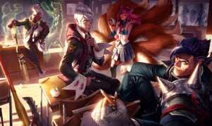 Rating: Safe Score: 13 Tags: ahri animal_ears armor bandages darius ekko_(league_of_legends) headphones league_of_legends megane seifuku tagme tail thighhighs vladimir_(league_of_legends) weapon User: Radioactive
