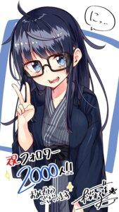 Rating: Safe Score: 35 Tags: gero_mitsuki megane onsen_musume sakuragi_ren yukata User: fireattack