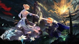 Rating: Safe Score: 35 Tags: armor dress emiya_shirou fate/stay_night saber saber_lily sword User: saber_same