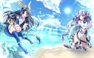 Rating: Questionable Score: 36 Tags: guardian_of_life_seiryuu_karin horns puzzle_&_dragons sakurano_ruu soul_guardian_byakko_haku swimsuits tail thighhighs User: fairyren