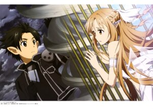 Rating: Safe Score: 23 Tags: asuna_(sword_art_online) kawatsuma_tomomi kirito pointy_ears sword_art_online User: drop