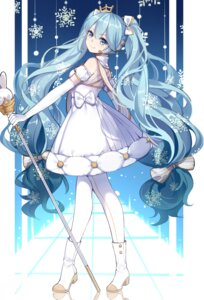 Rating: Safe Score: 46 Tags: chuor_(chuochuoi) dress hatsune_miku heels pantyhose vocaloid yuki_miku User: Mr_GT