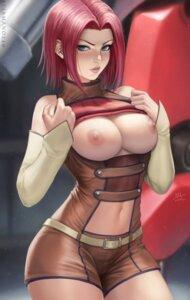 Rating: Questionable Score: 43 Tags: bodysuit breasts code_geass kallen_stadtfeld mirco_cabbia nipples no_bra shirt_lift User: Darkthought75