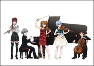 Rating: Safe Score: 14 Tags: ayanami_rei business_suit dress heels ikari_shinji makinami_mari_illustrious megane nagisa_kaworu neon_genesis_evangelion see_through souryuu_asuka_langley tagme thighhighs User: charunetra