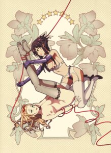 Rating: Questionable Score: 30 Tags: bondage bra breasts feet fishnets garter_belt heels naked nipples pantsu stockings tagme thighhighs yuri User: BattlequeenYume