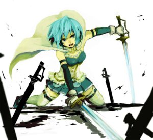 Rating: Safe Score: 9 Tags: miki_sayaka puella_magi_madoka_magica sword thighhighs zuro User: animeprincess