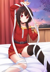 Rating: Questionable Score: 62 Tags: bandages dress kazenokaze kono_subarashii_sekai_ni_shukufuku_wo! megumin pantsu thighhighs User: Mr_GT