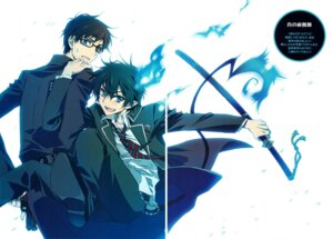 Rating: Safe Score: 16 Tags: ao_no_exorcist carnelian gap male megane okumura_rin okumura_yukio scanning_artifacts seifuku sword tail User: charunetra