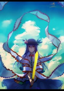 Rating: Safe Score: 18 Tags: hinanawi_tenshi qin_xin sword touhou User: Mr_GT