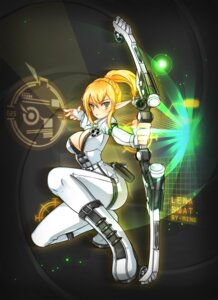 Rating: Safe Score: 25 Tags: bodysuit cleavage elsword ming_(wldi0132) no_bra open_shirt pointy_ears rena weapon User: Mr_GT