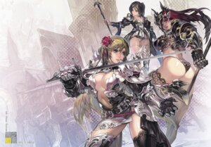 Rating: Questionable Score: 55 Tags: aoin armor ass cleavage pantsu sword thighhighs weapon User: dyj