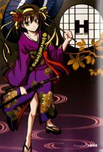 Rating: Safe Score: 19 Tags: binding_discoloration inui_sekihiko kimono suzumiya_haruhi suzumiya_haruhi_no_yuuutsu sword User: Driger