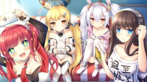 Rating: Safe Score: 48 Tags: animal_ears azur_lane bunny_ears cleavage eldridge_(azur_lane) headphones laffey_(azur_lane) long_island_(azur_lane) san_diego_(azur_lane) taiki_ken thighhighs User: Mr_GT