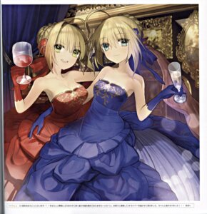 Rating: Safe Score: 49 Tags: binding_discoloration cleavage dress fate/extra fate/stay_night saber saber_extra type-moon wada_rco User: Radioactive