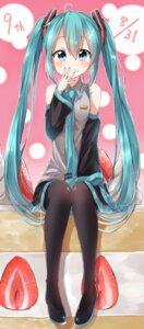 Rating: Safe Score: 40 Tags: cream hatsune_miku pentagon_(railgun_ky1206) thighhighs vocaloid User: Mr_GT