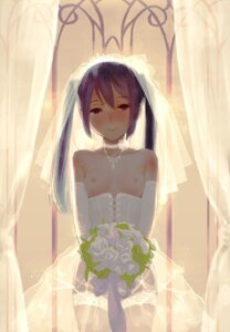 Rating: Questionable Score: 56 Tags: breasts dress ekao k-on! nakano_azusa nipples no_bra see_through stockings thighhighs wedding_dress User: blooregardo