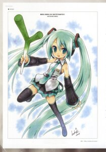 Rating: Safe Score: 7 Tags: hatsune_miku koshiki_yuuichi tattoo thighhighs vocaloid User: cheese
