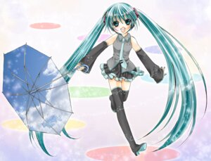 Rating: Safe Score: 7 Tags: hatsune_miku sorairo_(artist) thighhighs vocaloid User: yumichi-sama