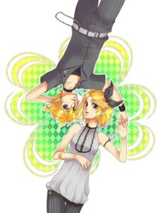 Rating: Safe Score: 6 Tags: kagamine_len kagamine_rin rioko vocaloid User: Syko83