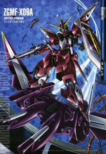 Rating: Safe Score: 12 Tags: gundam gundam_seed justice_gundam mecha yamagishi_masakazu User: zephyranthes