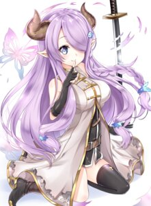 Rating: Safe Score: 65 Tags: granblue_fantasy heels horns karumayu narumeia_(granblue_fantasy) pointy_ears sword thighhighs User: memes