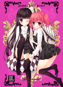 Rating: Questionable Score: 58 Tags: inu_x_boku_ss mitha pantsu roromiya_karuta shirakiin_ririchiyo stockings thighhighs User: 椎名深夏