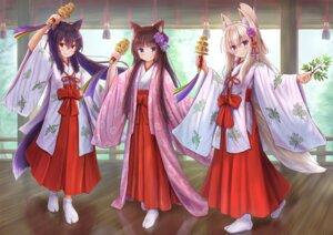 Rating: Safe Score: 15 Tags: animal_ears iroha_(iroha_matsurika) japanese_clothes kitsune miko nekomimi tail User: ryoga828