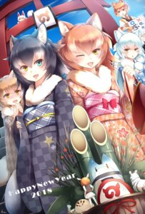 Rating: Safe Score: 17 Tags: animal_ears arctic_wolf grey_wolf heterochromia jaguar_(kemono_friends) kanzakietc kemono_friends kimono lucky_beast oinari-sama_(kemono_friends) tail User: Mr_GT