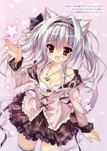 Rating: Safe Score: 71 Tags: animal_ears bra cleavage hellrun lolita_fashion loop_the_loop! nekomimi open_shirt tail thighhighs User: donicila