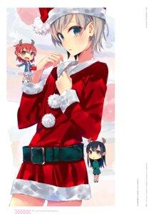 Rating: Safe Score: 6 Tags: chibi christmas horns ponkan_8 yahari_ore_no_seishun_lovecome_wa_machigatteiru. User: fireattack