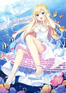 Rating: Safe Score: 73 Tags: bekotarou cleavage dress headphones heels summer_dress User: Twinsenzw