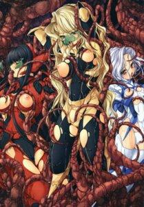 Rating: Explicit Score: 44 Tags: breasts extreme_content fellatio kirishima_satoshi nipples tentacles torn_clothes User: midzki