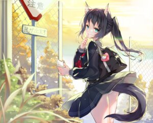 Rating: Questionable Score: 55 Tags: animal_ears juna pantsu seifuku skirt_lift tail User: edogawaconan