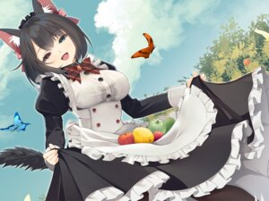 Rating: Safe Score: 20 Tags: animal_ears heterochromia jun_project maid pantyhose skirt_lift tail User: yanis