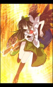 Rating: Safe Score: 15 Tags: reiuji_utsuho sakurame touhou wings User: charunetra